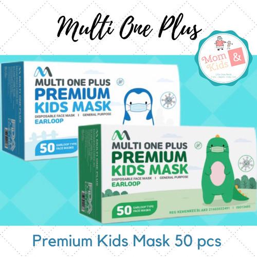 Foto Produk Masker Anak Multi One Plus 50 pc / Masker MOP Anak - hijau polos dari Toko Susu Mom n Kids