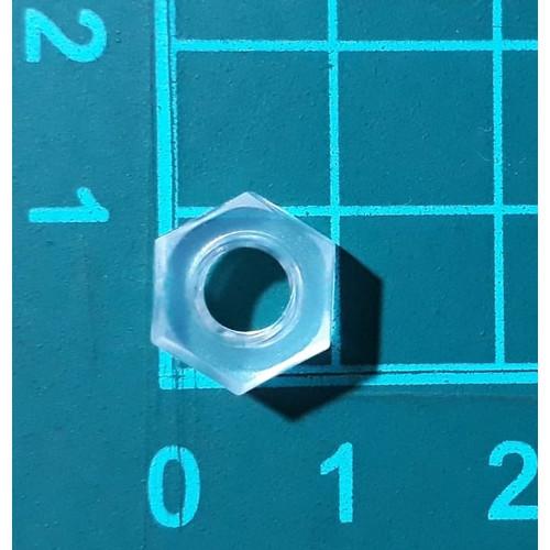 Foto Produk Mur Nut hexagonal Nylon Plastik M6 transparant Baut Skrup Screw dari SentraOnlineShop