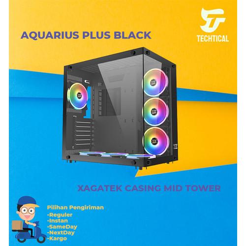 Foto Produk CASING Xigmatek Aquarius Plus - 7 FAN RGB Black- PC Gaming Case dari Techtical Computer