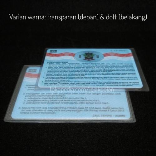 Foto Produk Cover KTP - ATM / Sampul Plastik KTP SIM / Cover Plastik KTP - transparan-doff dari Jejak Dolan