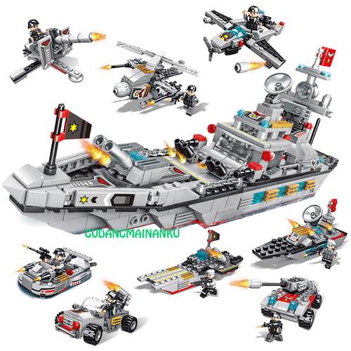 Foto Produk Bricks Mainan Blocks Marine Defense Cruiser Kapal Perang (8 macam) dari Gudangmainanku