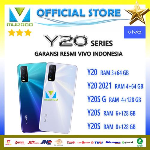 Foto Produk VIVO Y20 3/64, Y20 2021 4/64, Y20S G 4/128, Y20S 8/128 RESMI - Y20 2021 4+64, Putih dari Murago