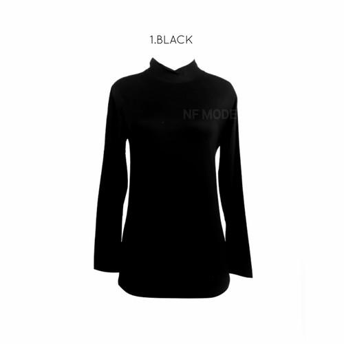 Foto Produk Manset Wanita Baju Kaos Daleman XL - Hitam, XS dari NF Mode