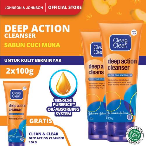 Foto Produk Clean & Clear Deep Action Cleanser 100gr - Buy 2 Get 1 dari Johnson & Johnson Personal Care