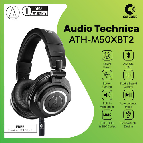 Foto Produk Audio Technica ATH-M50XBT2 / M50X BT2 Over Ear Wireless Headphone dari csi-zone