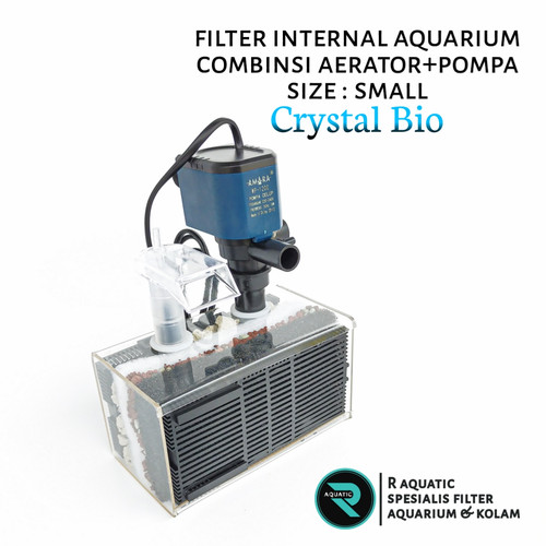Foto Produk filter internal aquarium kombinasi power head dan aerator size small - filter only dari R aquatic karawang
