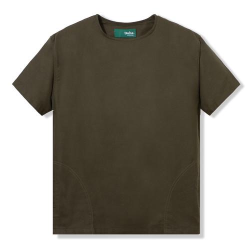 Foto Produk Duha Muslimwear - Subhi Olive Shirt - S dari Duha Muslimwear