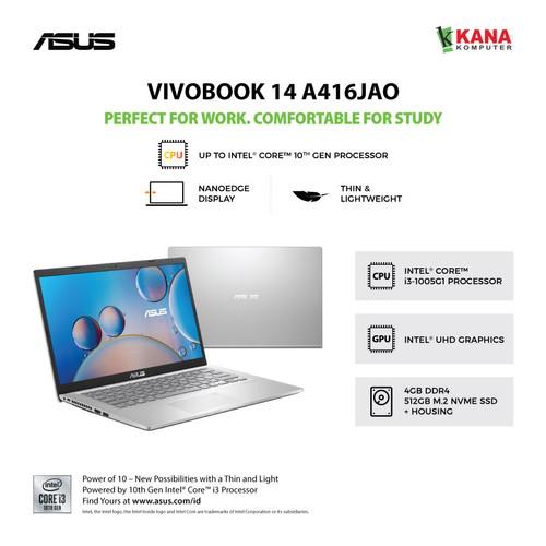 Foto Produk Asus Vivobook A416JA FHD352 Core i3 1005G1/SSD 512GB/4GB/OHS dari kanakomputer