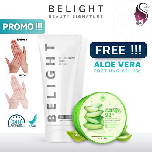 Foto Produk Pemutih Badan Permanen BPOM, Belight Brightening Body Serum Pencerah dari Alami Green Angelica