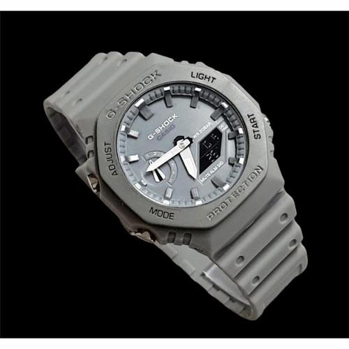 Foto Produk G Shock GA-2100 Merah Kuning Hitam Army Loreng Jam tangan pria skmei - ABU FULL dari hosse acc