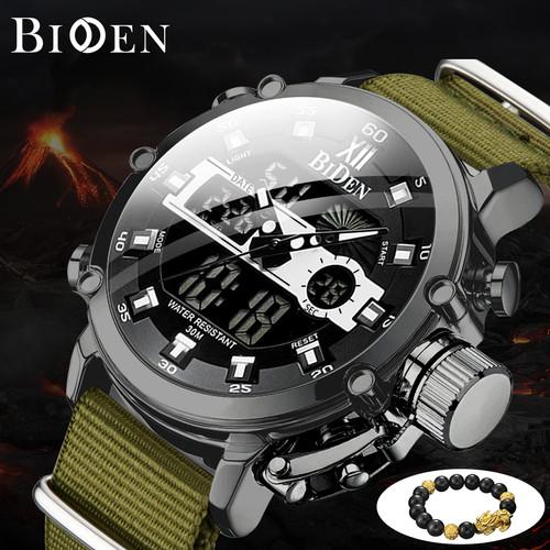 Foto Produk Jam Tangan BIDEN pria Fashionable multi-function outdoor sports jam - Hijau dari BIDEN Official Store