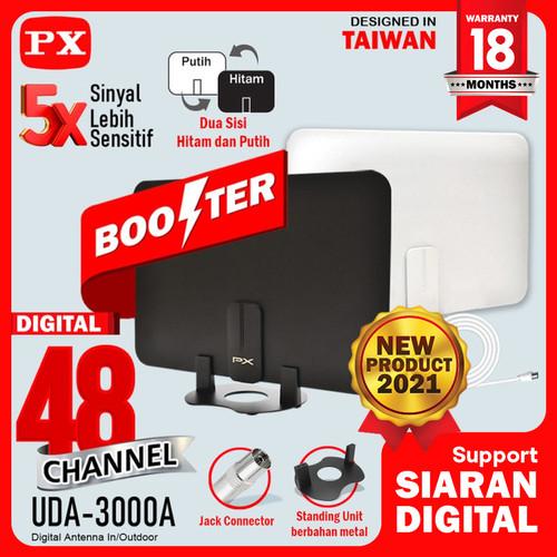 Foto Produk Antena TV Digital Analog Indoor Dinding DVB T2 + Booster PX UDA-3000A dari PX Official Store