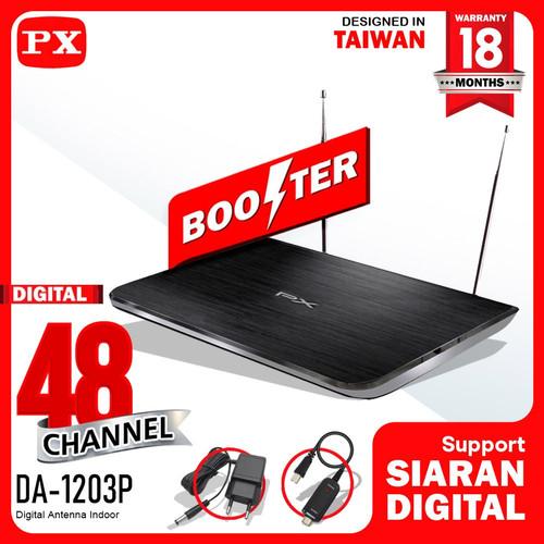 Foto Produk Antena TV Indoor Digital Analog DVB-T2 + Booster PX DA-1203P dari PX Official Store