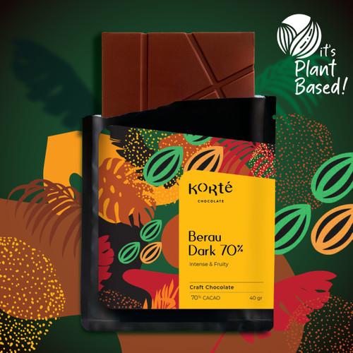 Foto Produk Korte Berau 70% Dark Chocolate Bar dari Korte Chocolate