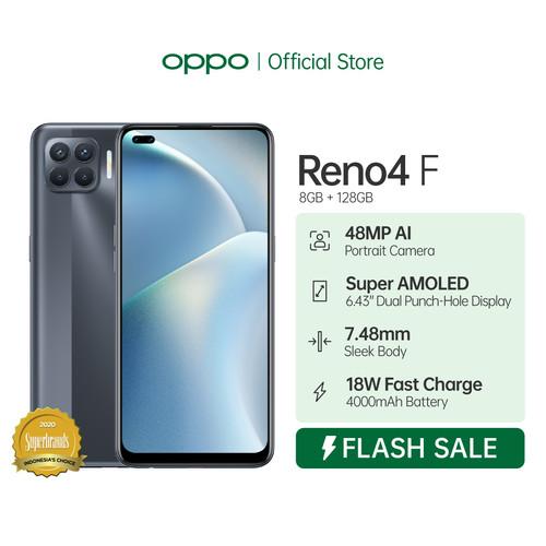 Foto Produk OPPO Reno4 F Smartphone 8GB/128GB Flash Sale - Hitam dari OPPO OFFICIAL STORE