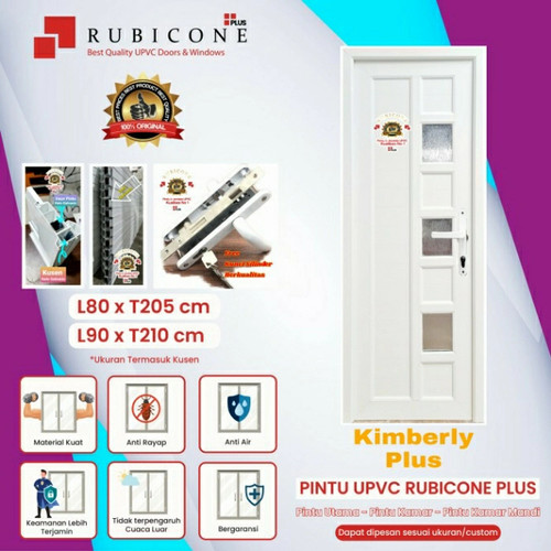 Foto Produk Pintu Utama & Kamar UPVC Rubicone Plus-Liberty RC8-Putih - L 90 x 210 cm, Engsel Kanan dari rajanyapintusby