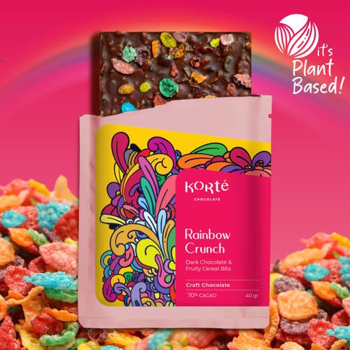 Foto Produk Korte Rainbow Crunch Chocolate Bar dari Korte Chocolate