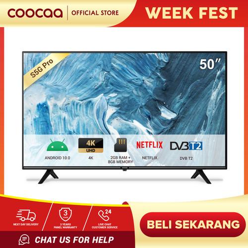 Foto Produk COOCAA LED TV 50 inch Android 10.0 - 4K - Digital TV (50S5G PRO) dari Coocaa Official Store