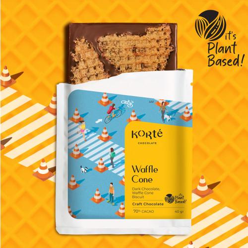 Foto Produk Korte Waffle Cone Chocolate Bar dari Korte Chocolate