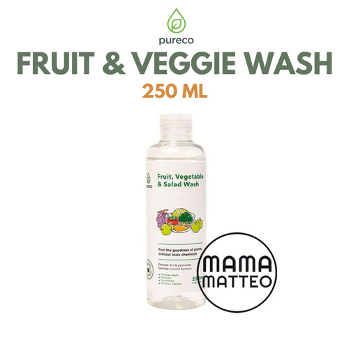 Foto Produk Pureco Fruit Vegetable and Salad wash / Fruit wash / Veggie Wash 500ml - Veggie 250 ml dari mamamatteoid