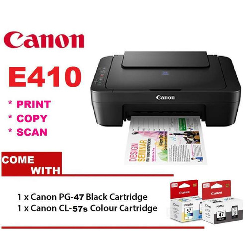 Foto Produk Canon PIXMA E410 All-In-One Inkjet Printer (Print Scan Copy) dari PojokITcom Pusat IT Comp