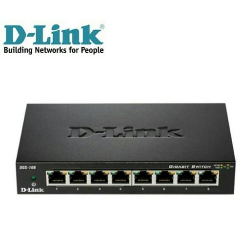 Foto Produk DLink DGS-108GL 8-Port Gigabit Unmanaged Metal Desktop Switch dari PojokITcom Pusat IT Comp