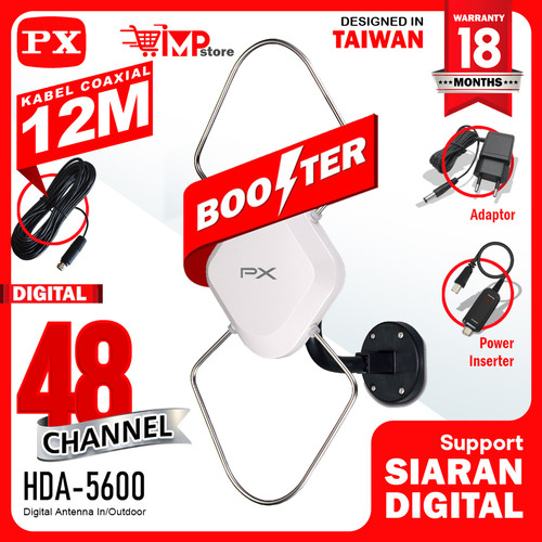 Foto Produk Antena TV Digital Indoor outdoor Px Hda-5600 seperti hda 5000 hda5000 dari IMPStore