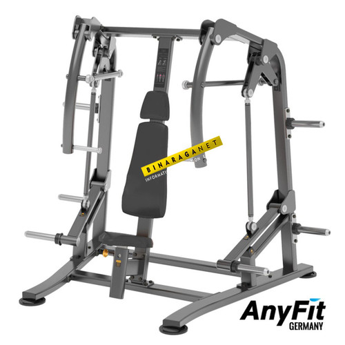 Foto Produk Chest Press Anyfit T01 Alat Fitnes Fitness Gym Dada Komersial Import dari BinaragaNet
