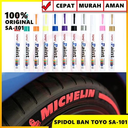 Foto Produk spidol ban original toyo paint marker murah - Hijau dari Modifikasi Market