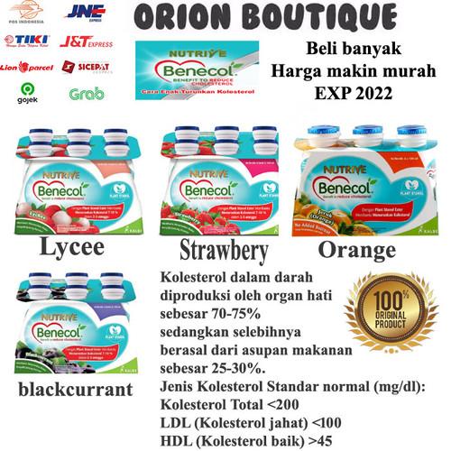 Foto Produk Nutrive benecol 6x100ml Blackcurrant, lecy, orange dan strawberry - Blackcurrant dari Orion Boutique