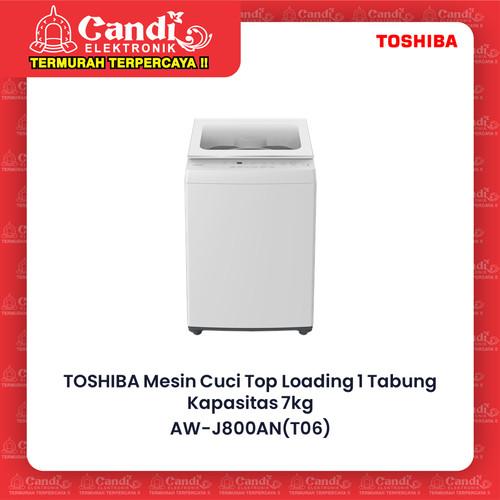 Foto Produk TOSHIBA MESIN CUCI TOP LOADING AW-J800AN / AW J800AN / AWJ800AN 7KG dari Candi Elektronik Solo