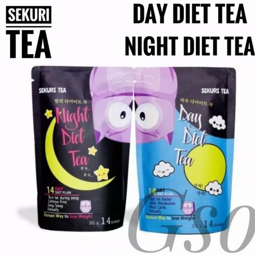 Foto Produk Sekuri Tea Korean 14 Day & Night Diet Tea - Teh Diet Detox - Night Diet Tea dari Goodsshopone