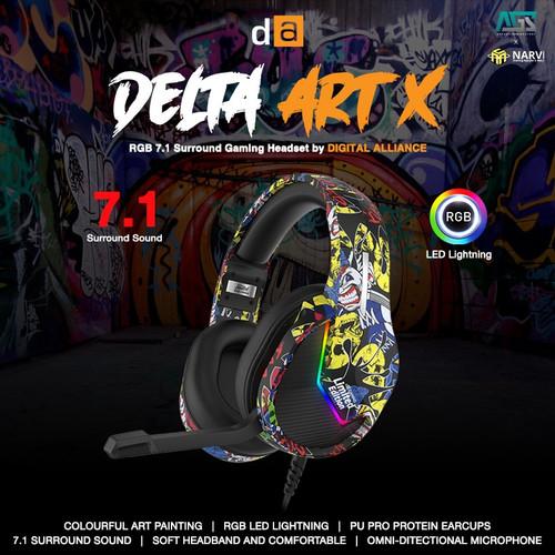 Foto Produk DIGITAL ALLIANCE DELTA ART X 7.1 Surround Sound USB - Gaming Headset dari Apparel Gaming
