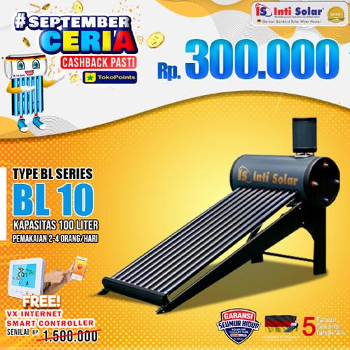 Foto Produk Pemanas Air Matahari IntiSolar 100 liter INTI SOLAR WATER HEATER BL10 dari Inti Solar Official