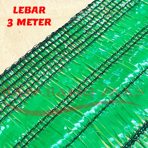 Foto Produk Jaring paranet uv atap hijau 85% UV 3% Bahan Virgin Lebar 3 Meter 1Rol dari CV BAMBANG MAS OFFICIAL