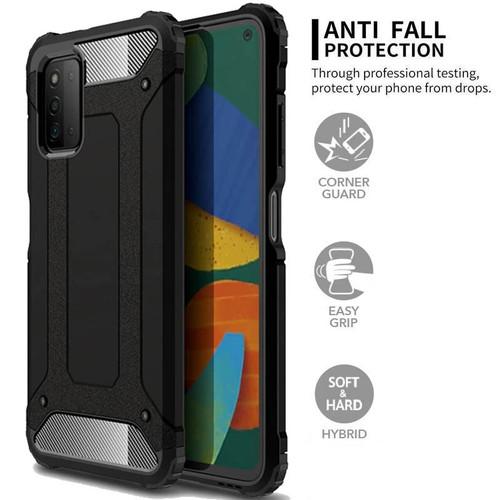 Foto Produk Dual Shock Armor Case Samsung Galaxy A03s - Cover Hard Soft Casing Fit dari Logay Accessories