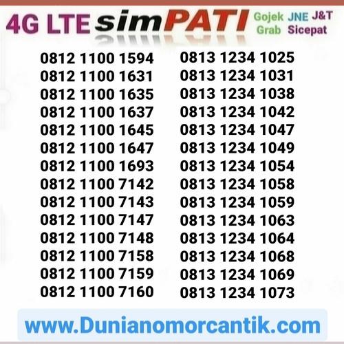 Foto Produk Nomor Cantik Simpati 4G Murah dari Nomor Cantik 89