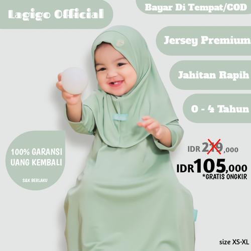 Foto Produk Baju Muslim Gamis Bayi 6 12 Bulan Anak Perempuan 1 2 3 4 Tahun Pastel - Pastel Green, XL (4 Tahun) dari Lagigo Official Store