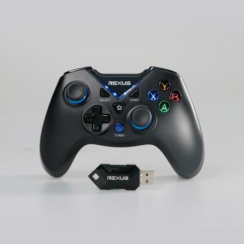 Foto Produk Rexus Pro Gaming Wireless Gamepad GX100 - Hitam dari Rexus Official Store