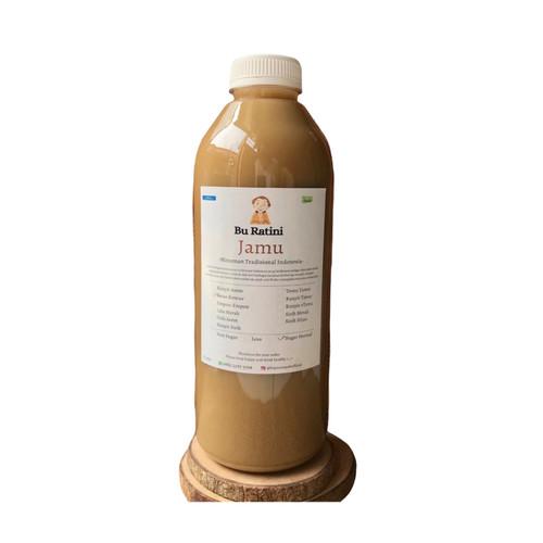 Foto Produk Jamu beras kencur botol 1 liter tanpa pengawet tanpa pemanis buatan - Sugar Normal dari hayurempah
