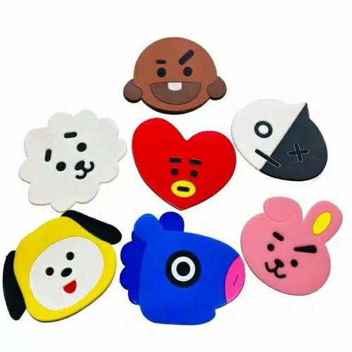 Foto Produk Tatakan Gelas Karakter - Alas Cangkir Mangkok Silikon Motif Kartun Art dari Bear House Grosir