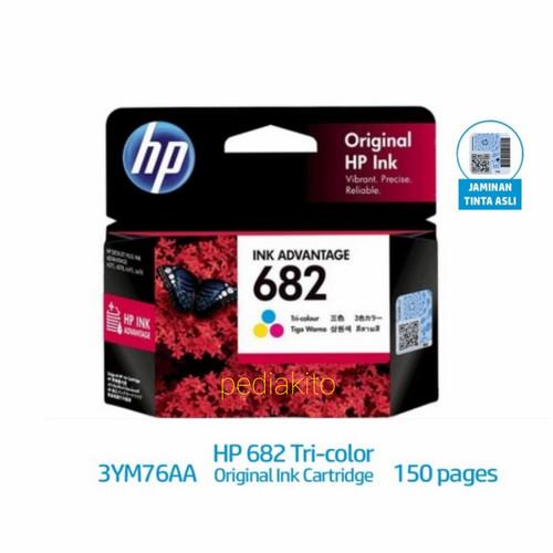 Foto Produk HP 682 ORIGINAL Black hitam dan Colour warna tinta printer - WARNA COLOUR dari pediakito