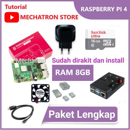 Foto Produk Raspberry Pi 4 model B 8GB Paket Lengkap Siap Pakai UK Pi4 8 GB - Tanpa MicroSD dari Mechatron