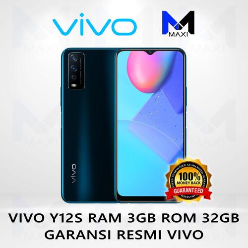 Foto Produk VIVO Y12S 3/32 RAM 3GB ROM 32GB GARANSI RESMI - Phantom Black dari Maxi phone cell