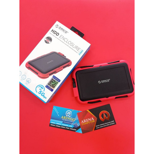 Foto Produk HDD Enclosure ORICO 2799U3 RED Karet Model Polos dari ArinGoComputer