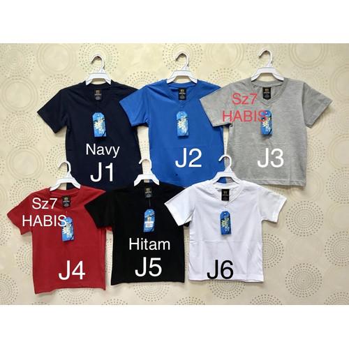 Foto Produk Kaus/Kaos/Tshirt Oblong Polos Santai Bahan Adem Anak Laki/Perempuan(J) - 4 dari Daily Style89
