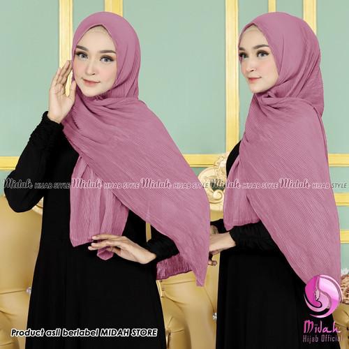 Foto Produk pasmina plisket full ceruty - dusty purple dari hijab midah official