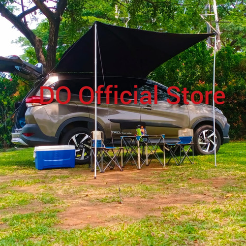 Foto Produk Ready Stock!! TENDA MOBIL PORTABLE AWNING TENT CAR PRAKTIS BAGUS MURAH - Hitam dari DO OFFICIAL STORE