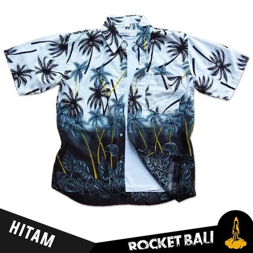 Foto Produk Baju Kemeja Hawai - Kemeja Hawai Bali - Kemeja Pantai Cepat Kering - Hitam, L dari Rocket Bali
