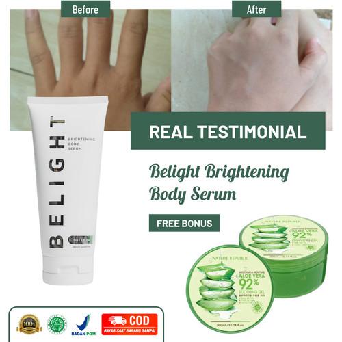 Foto Produk Lotion Pencerah Badan Belight Brightening Body Serum Pemutih Kulit COD dari Green Angelica Official Shop